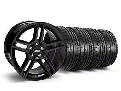 Staggered 2010 GT500 Style Black Wheel & Mickey Thompson Tire Kit - 18x9/10 (05-14 All)