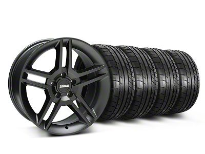Staggered 2010 GT500 Style Matte Black Wheel & Mickey Thompson Tire Kit - 18x9/10 (05-14 All)