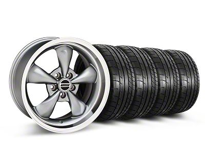 Staggered Deep Dish Bullitt Anthracite Wheel & Mickey Thompson Tire Kit - 18x9/10 (05-10 GT; 05-14 V6)