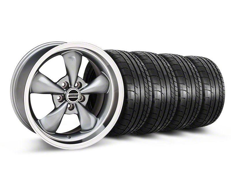 Staggered Deep Dish Bullitt Anthracite Wheel & Mickey Thompson Tire Kit - 18x9/10 (05-10 GT; 05-14 V6)