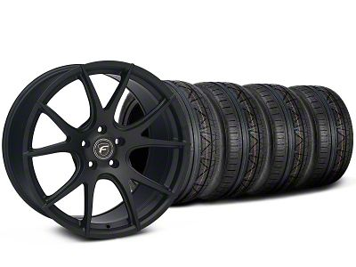 Staggered Forgestar CF5V Monoblock Matte Black Wheel & NITTO INVO Tire Kit - 19x9/10 (05-14 All)