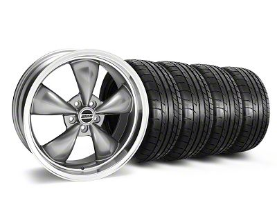 Staggered Deep Dish Bullitt Anthracite Wheel & Mickey Thompson Tire Kit - 20x8.5/10 (05-10 GT; 05-14 V6)