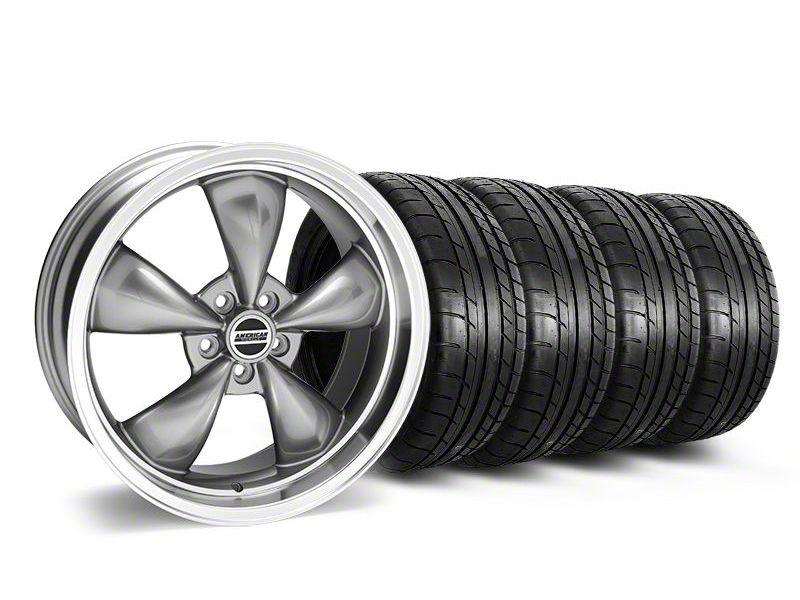 Staggered Deep Dish Bullitt Anthracite Wheel & Mickey Thompson Tire Kit - 20x8.5/10 (05-10 GT; 05-14 V6)
