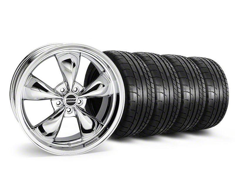 Staggered Deep Dish Bullitt Chrome Wheel & Mickey Thompson Tire Kit - 20x8.5/10 (05-10 GT; 05-14 V6)