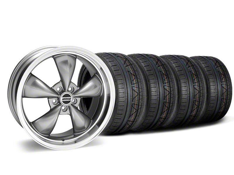 Staggered Deep Dish Bullitt Anthracite Wheel & NITTO INVO Tire Kit - 20x8.5/10 (05-10 GT; 05-14 V6)
