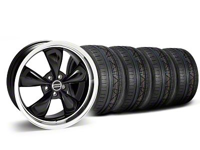 Staggered Deep Dish Bullitt Black Wheel & NITTO INVO Tire Kit - 20x8.5/10 (05-10 GT; 05-14 V6)