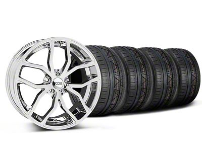 Staggered Foose Outcast Chrome Wheel & NITTO INVO Tire Kit - 20x8.5/10 (05-14 All)