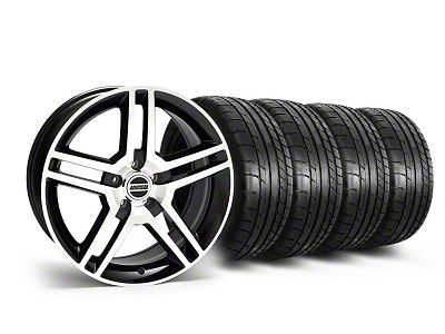 Staggered 2010 GT500 Style Black Machined Wheel & Mickey Thompson Tire Kit - 19x8.5/10 (05-14 All)
