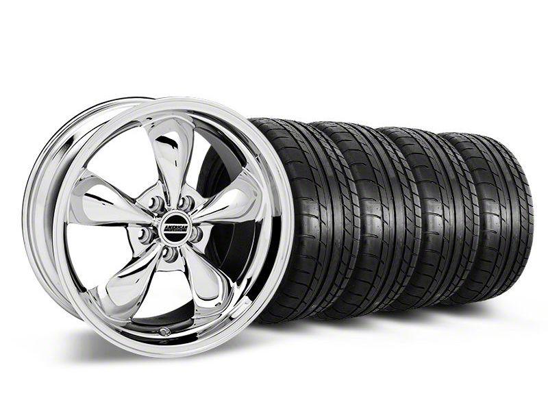 Staggered Deep Dish Bullitt Chrome Wheel & Mickey Thompson Tire Kit - 19x8.5/10 (05-14 Standard GT, V6)