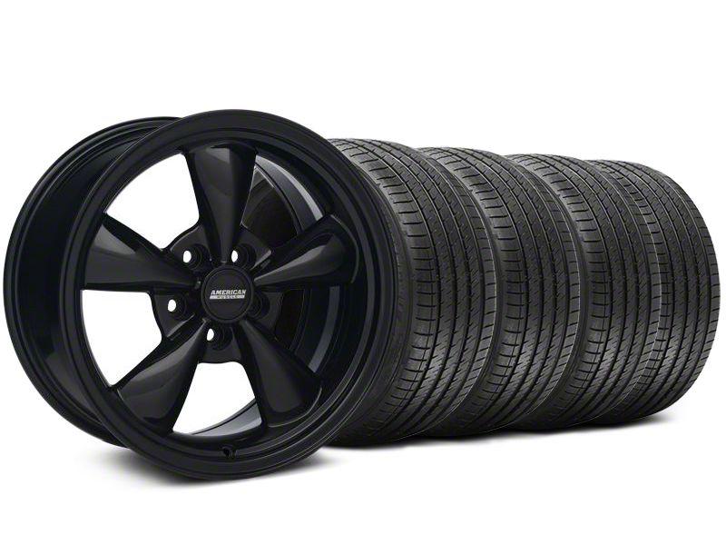 Staggered Bullitt Solid Gloss Black Wheel & Sumitomo Tire Kit - 18x9/10 (99-04 All)