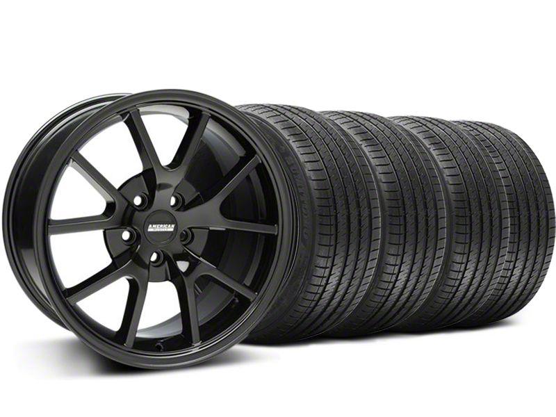 FR500 Style Gloss Black Wheel & Sumitomo Tire Kit - 18x9 (94-98 All)
