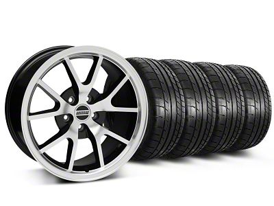 FR500 Style Black Machined Wheel & Mickey Thompson Tire Kit - 18x9 (05-14 All)