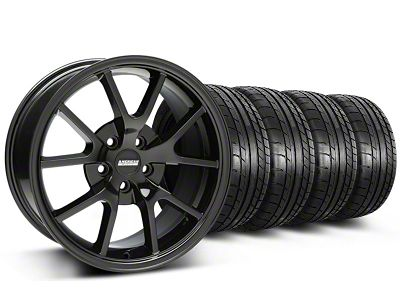 FR500 Style Gloss Black Wheel & Mickey Thompson Tire Kit - 18x9 (05-14 All)
