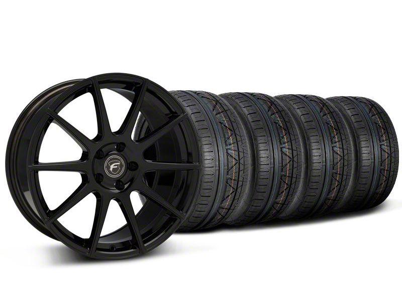 Forgestar CF10 Monoblock Piano Black Wheel & NITTO INVO Tire Kit - 19x9 (05-14 All)