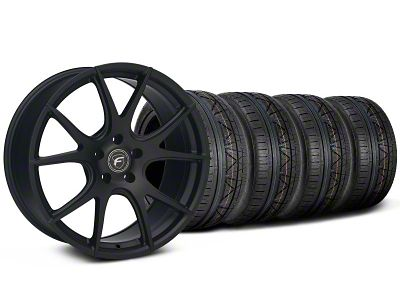 Forgestar CF5V Monoblock Matte Black Wheel & NITTO INVO Tire Kit - 19x9 (05-14 All)