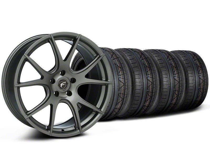 Forgestar CF5V Monoblock Gunmetal Wheel & NITTO INVO Tire Kit - 19x9 (05-14 All)