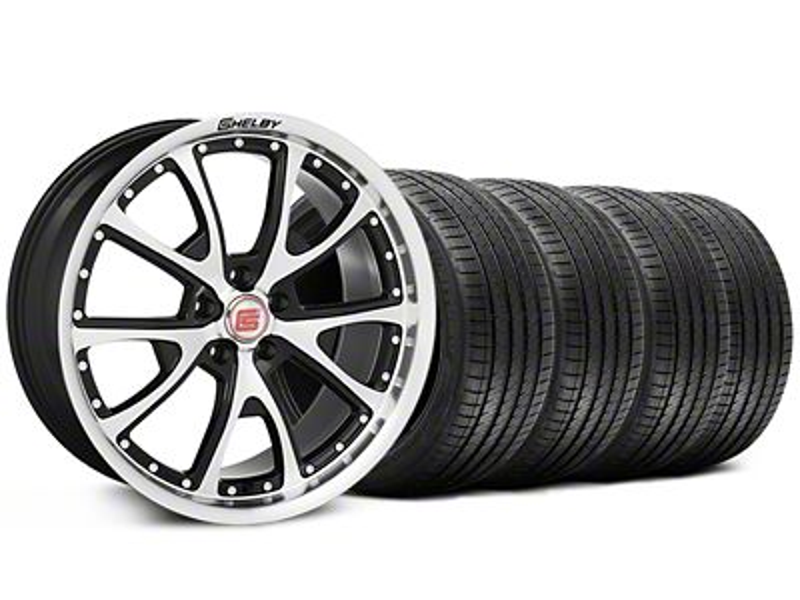 Shelby CS40 Black Machined Wheel & Sumitomo Tire Kit - 20x9 (05-14)