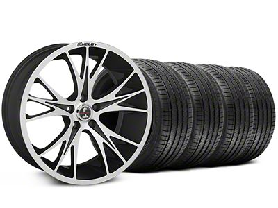 Shelby CS1 Black Machined Wheel & Sumitomo Tire Kit - 20x9 (05-14)