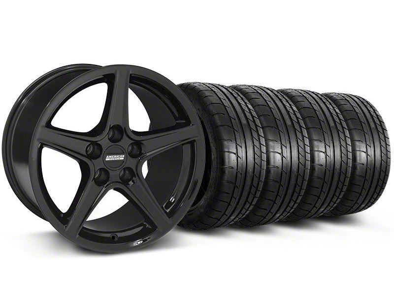 Saleen Style Black Wheel & Mickey Thompson Tire Kit - 19x8.5 (05-14 GT, V6)