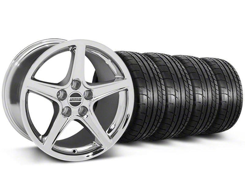 Saleen Style Chrome Wheel & Mickey Thompson Tire Kit - 19x8.5 (05-14 GT, V6)