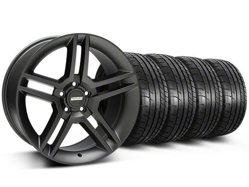 2010 GT500 Style Matte Black Wheel & Mickey Thompson Tire Kit - 19x8.5 (05-14 All)