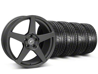 Forgestar CF5 Monoblock Matte Black Wheel & Mickey Thompson Tire Kit - 19x9 (05-14 All)
