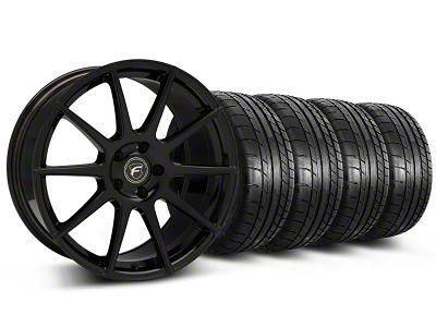 Forgestar CF10 Monoblock Piano Black Wheel & Mickey Thompson Tire Kit - 19x9 (05-14 All)