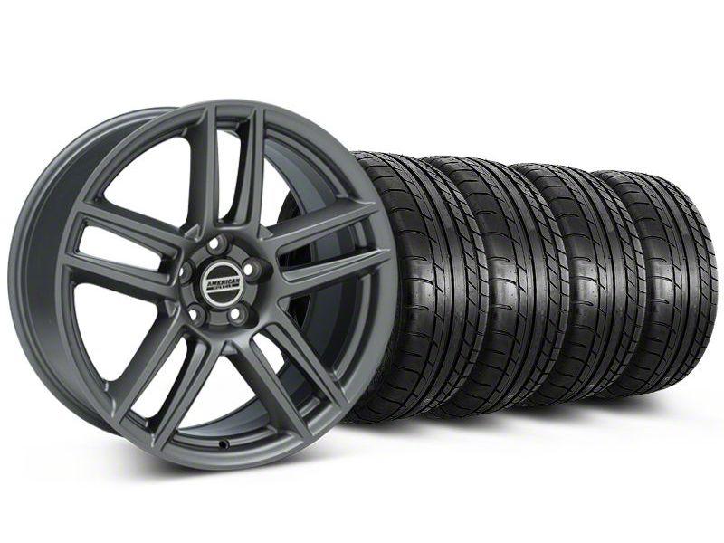 Laguna Seca Style Charcoal Wheel & Mickey Thompson Tire Kit - 19x9 (05-14 All)