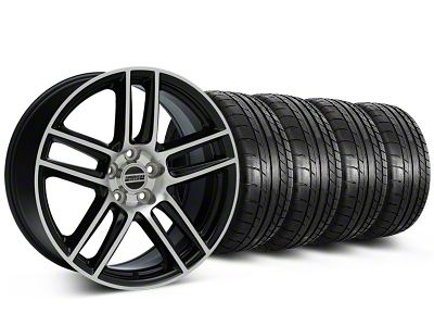 Laguna Seca Style Black Machined Wheel & Mickey Thompson Tire Kit - 19x9 (05-14 All)