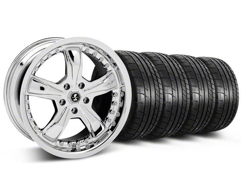 Shelby Razor Chrome Wheel & Mickey Thompson Tire Kit - 20x9 (05-14 All)