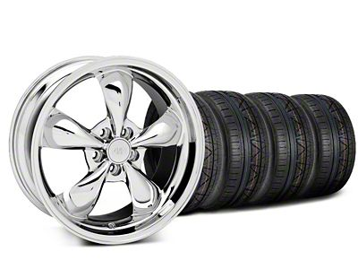 Deep Dish Bullitt Chrome Wheel & NITTO INVO Tire Kit - 20x8.5 (05-10 GT; 05-14 V6)