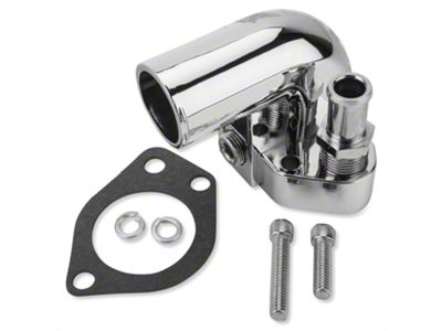 Holley Performance Chrome Water Neck (79-95 5.0L, 5.8L)