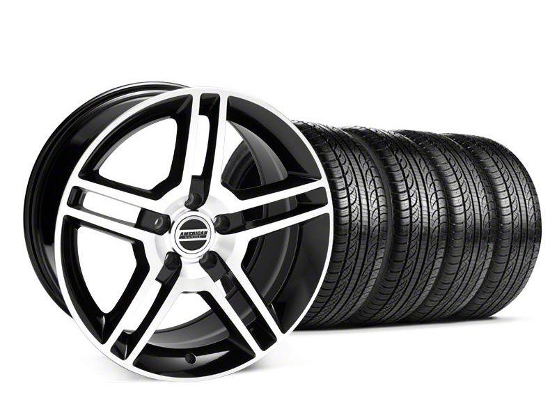 2010 GT500 Style Black Machined Wheel & Pirelli Tire Kit - 19x8.5 (05-14 All)