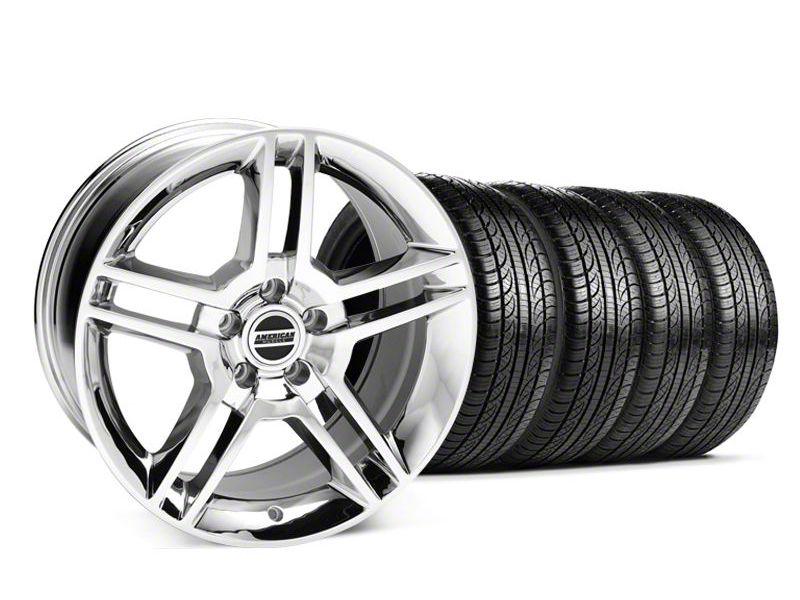 2010 GT500 Style Chrome Wheel & Pirelli Tire Kit - 19x8.5 (05-14 All)
