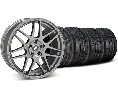 Staggered Forgestar F14 Monoblock Gunmetal Wheel & NITTO INVO Tire Kit - 18x9/10 (05-14 All)