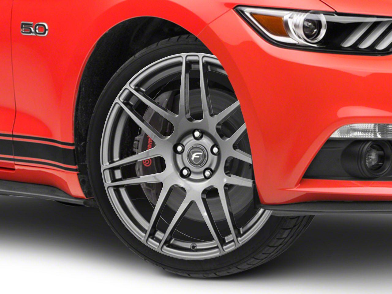 Forgestar F14 Monoblock Gunmetal Wheel - 20x9.5 (15-19 GT, EcoBoost, V6)