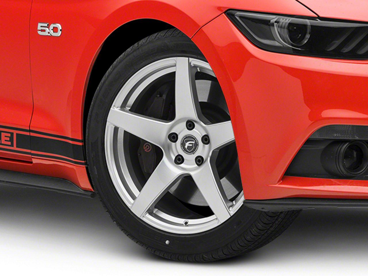 Forgestar CF5 Monoblock Silver Wheel - 19x9.5 (15-19 GT, EcoBoost, V6)