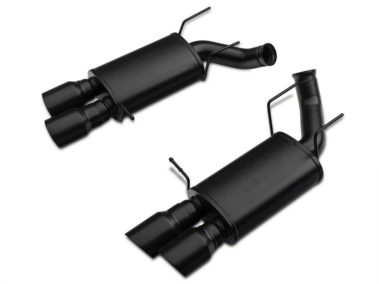 Magnaflow Street Axle-back Exhaust w/ Quad Black Tips (13-14 GT500)
