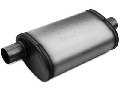 Magnaflow Performance Series Center/Offset Oval Satin Muffler - 2.25 in. (Universal Fitment)