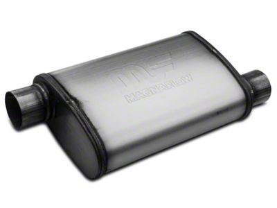 Magnaflow Performance Series Offset/Offset Oval Satin Muffler - 2.5 in. (Universal Fitment)