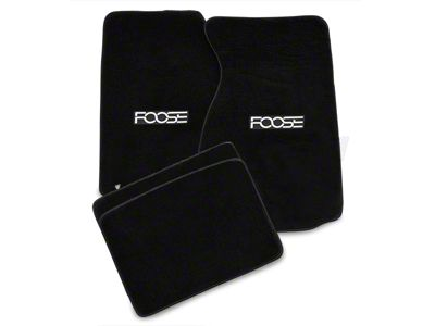 Alterum Front & Rear Floor Mats w/ FOOSE Logo - Black (94-98 Coupe)