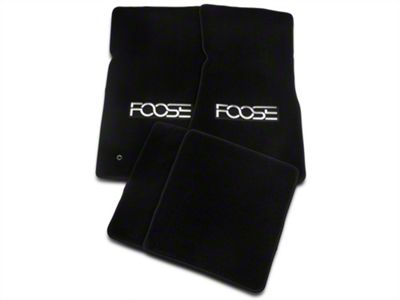 Front & Rear Floor Mats w/ FOOSE Logo - Black (79-93 All)