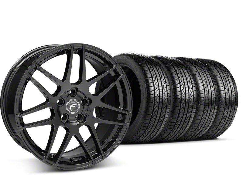 Forgestar F14 Monoblock Piano Black Wheel & Pirelli Tire Kit - 19x9.5 (15-19 All)