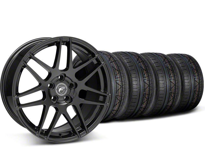 Forgestar F14 Monoblock Piano Black Wheel & Nitto Invo Tire Kit - 19x9.5 (15-19 All)