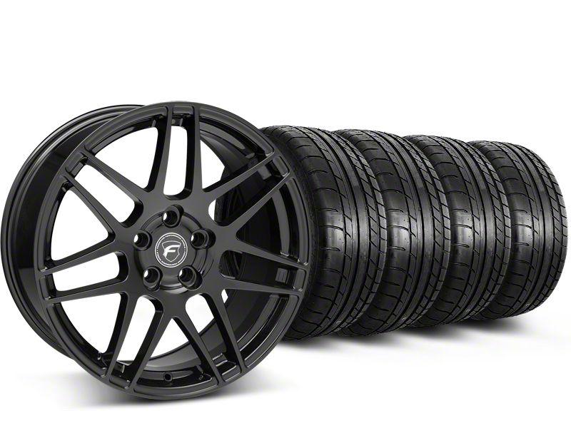 Forgestar F14 Monoblock Piano Black Wheel & Mickey Thompson Tire Kit - 19x9.5 (15-19 All)