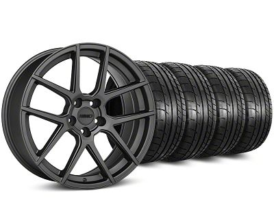 Staggered MMD Zeven Charcoal Wheel & Mickey Thompson Tire Kit - 20 in. - 2 Rear Options (15-19 All)