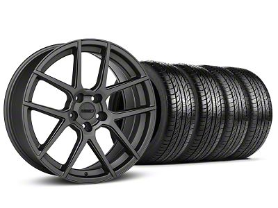 MMD Zeven Charcoal Wheel & Pirelli Tire Kit - 19x8.5 (15-19 All)
