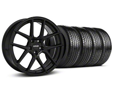 MMD Zeven Black Wheel & Pirelli Tire Kit - 19x8.5 (15-19 All)