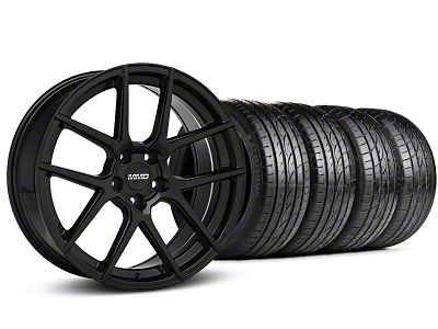 MMD Zeven Black Wheel & Sumitomo Tire Kit - 19x8.5 (15-19 All)
