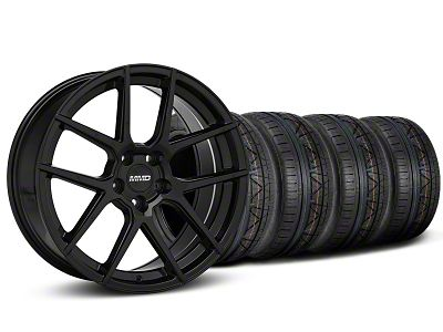 MMD Zeven Black Wheel & NITTO INVO Tire Kit - 19x8.5 (15-19 GT, EcoBoost, V6)